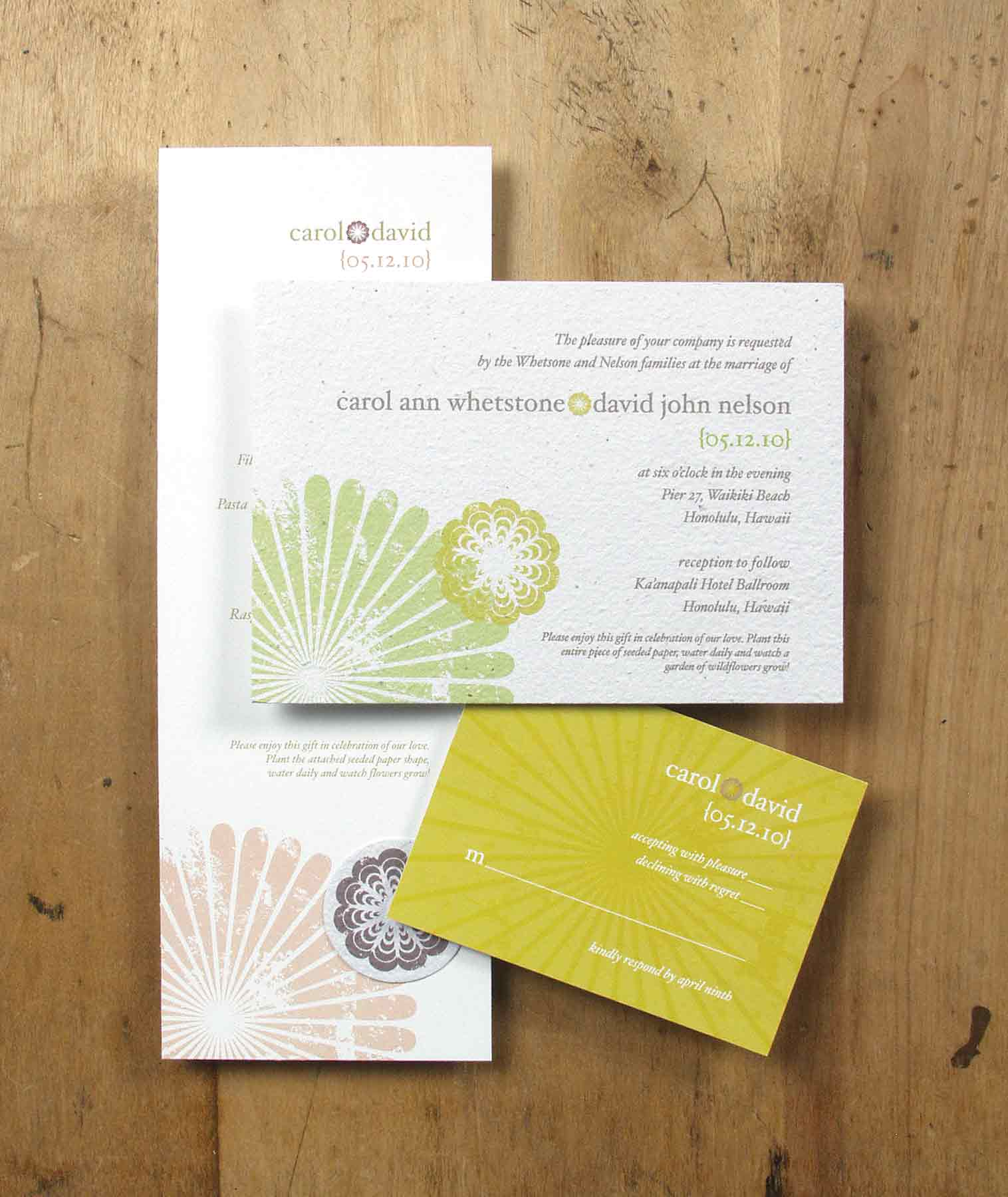 Environmentally Friendly Wedding Stationery • Staccato