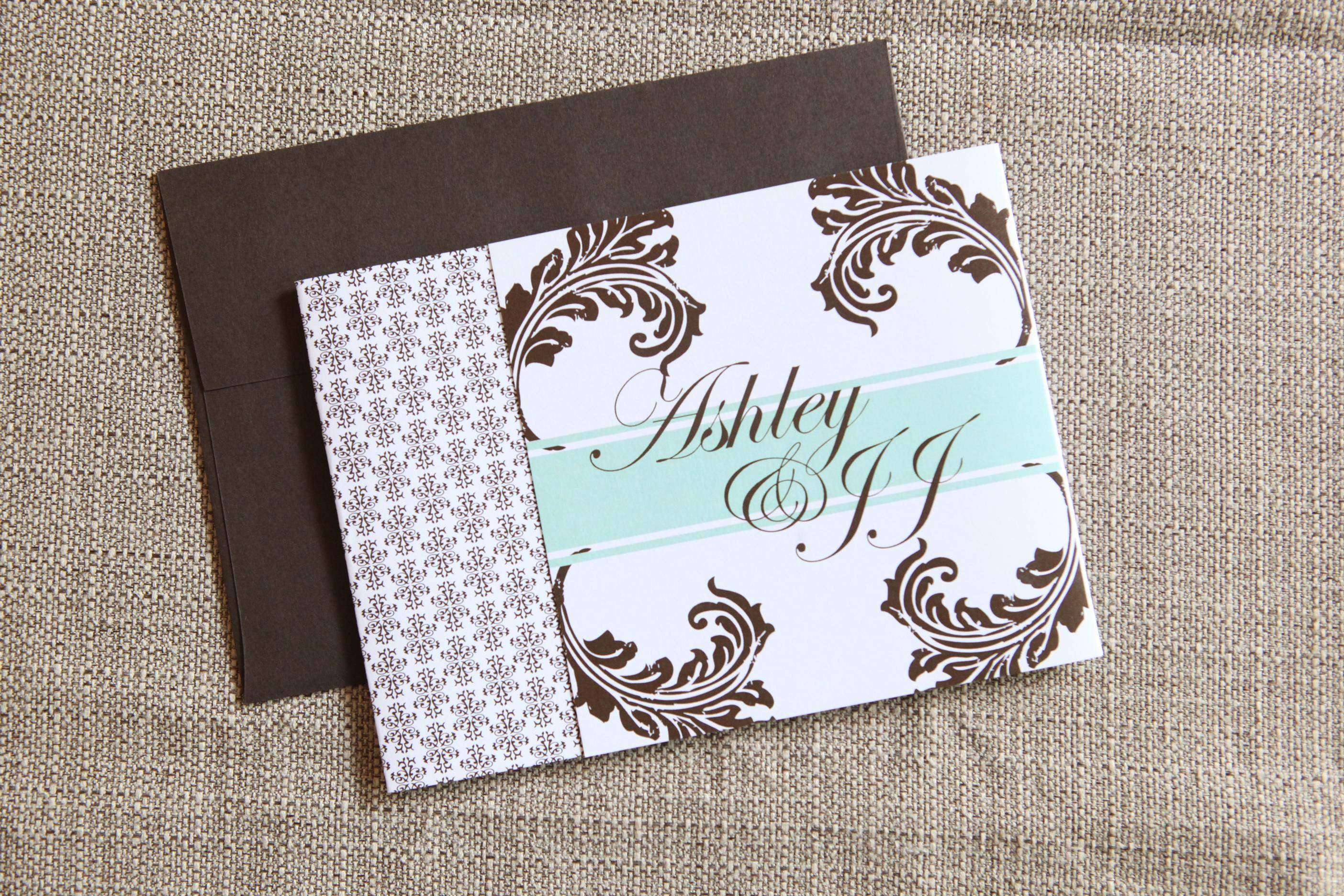 Scroll Tri-Fold by Jenn Sprinkle Paper