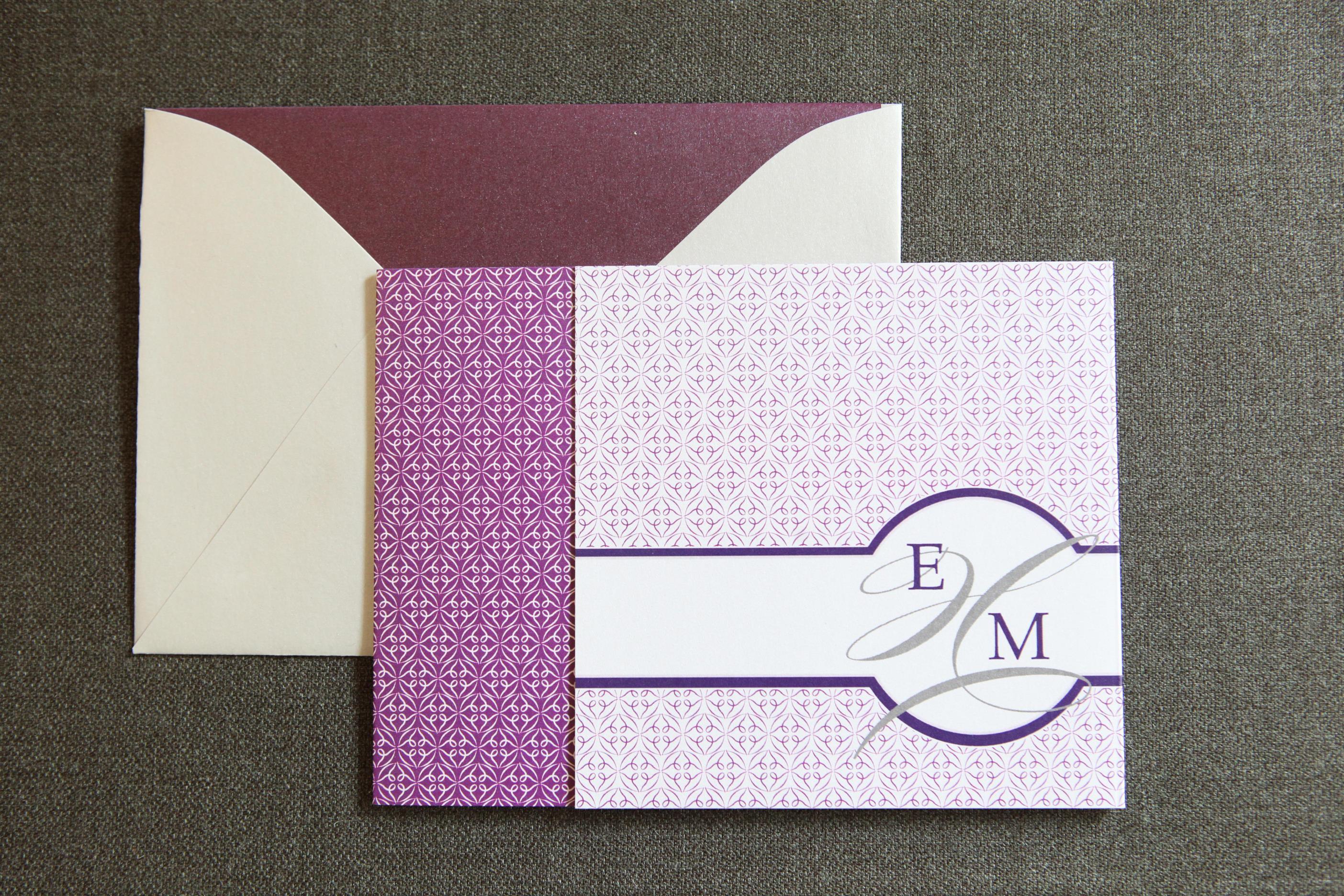 Monogram Tri-Fold by Jenn Sprinkle Paper