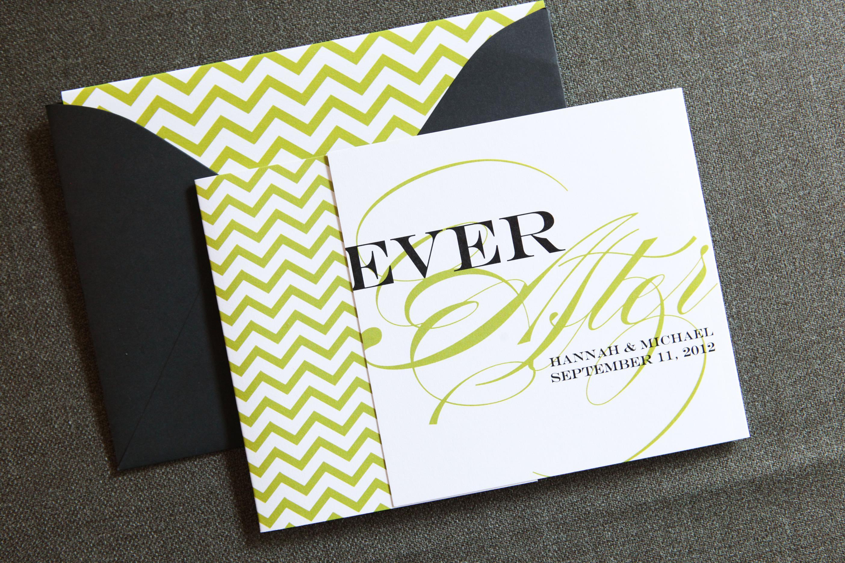 Chevron Chic Tri-Fold by Jenn Sprinkle Paper