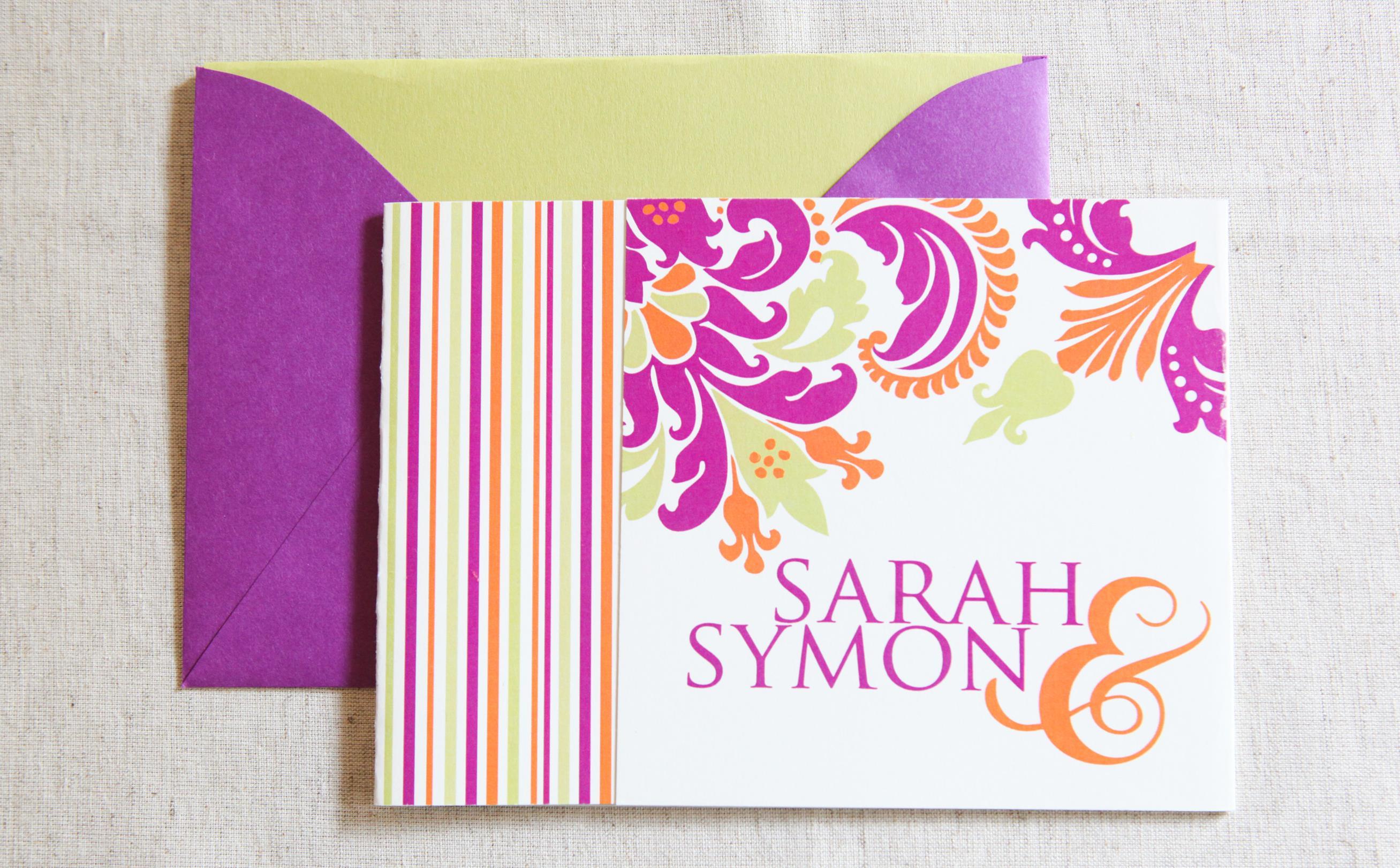 Damask Tri-Fold by Jenn Sprinkle Paper
