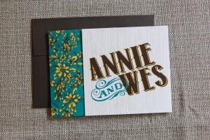 Tri-Fold Wedding Invitation - closed