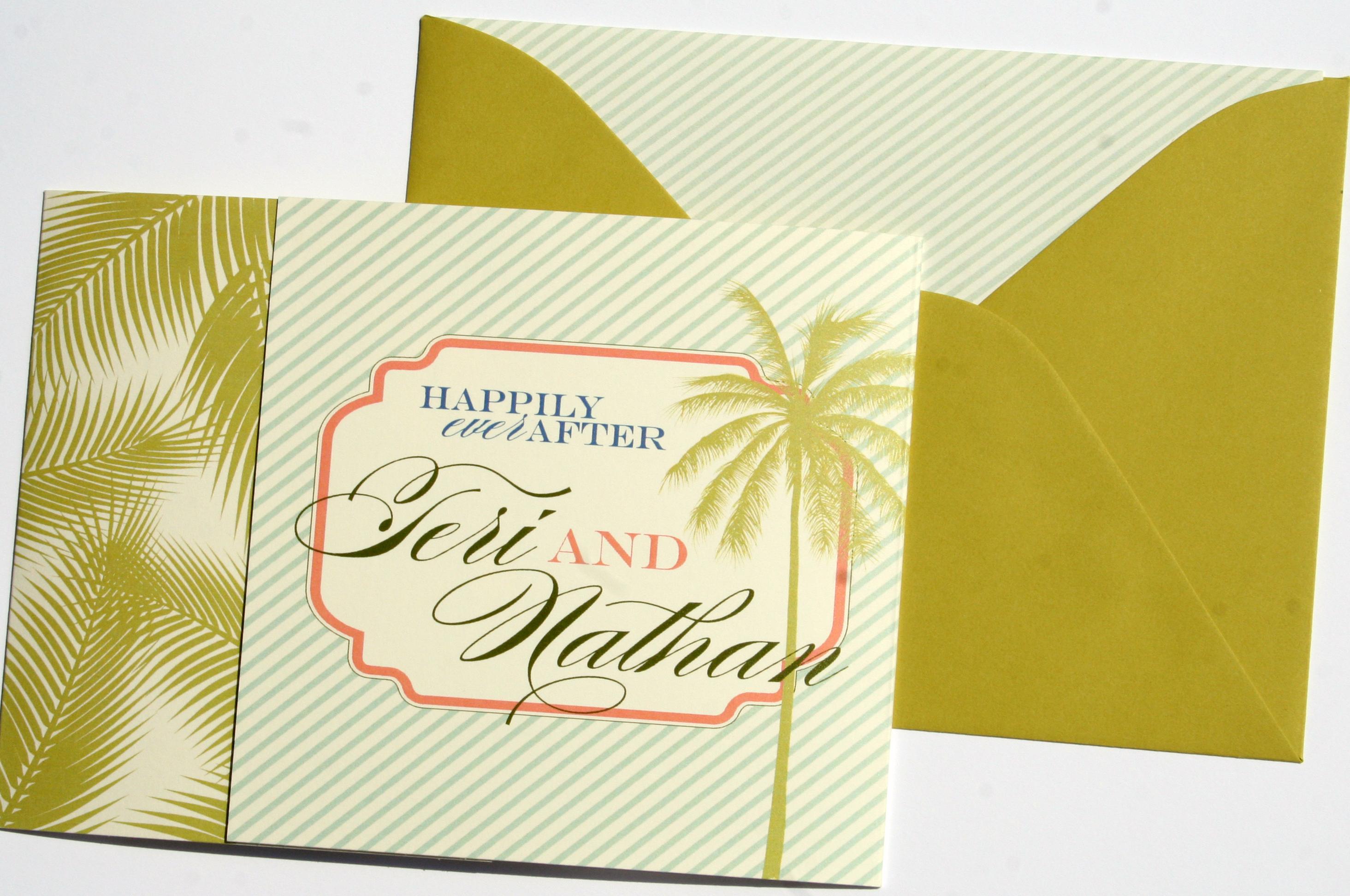 Paradise Tri-Fold by Jenn Sprinkle Paper