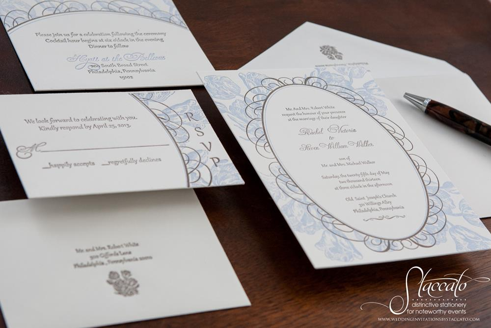 Tulipano Letterpress Wedding Invitation