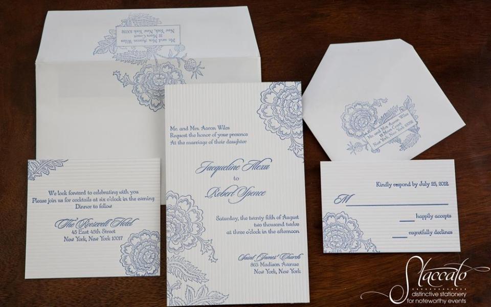 Savannah Letterpress Invitation Suite
