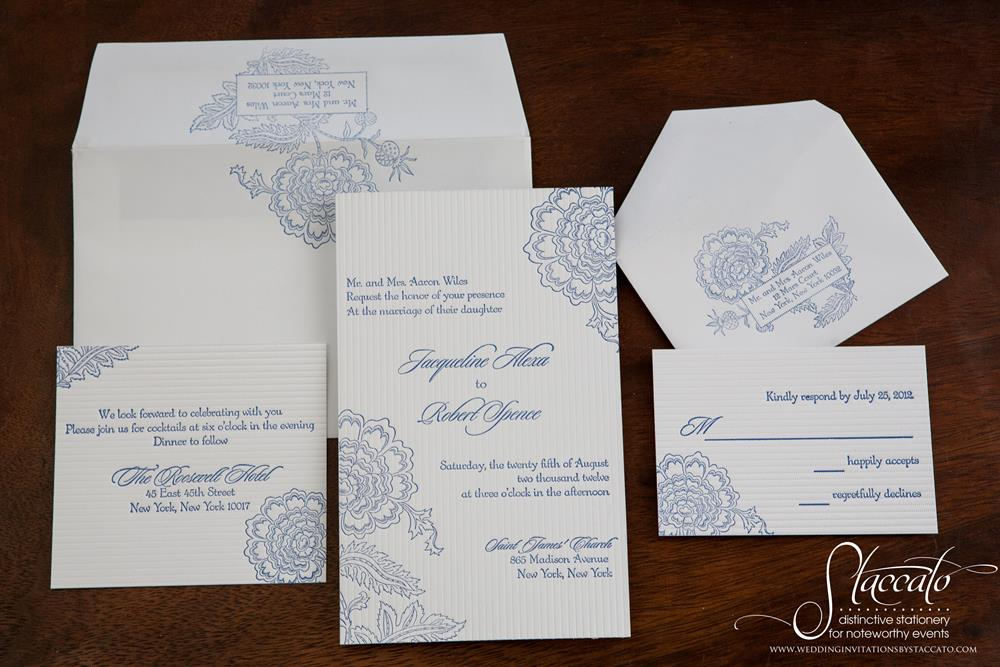 Savannah Letterpress Invitation Suite