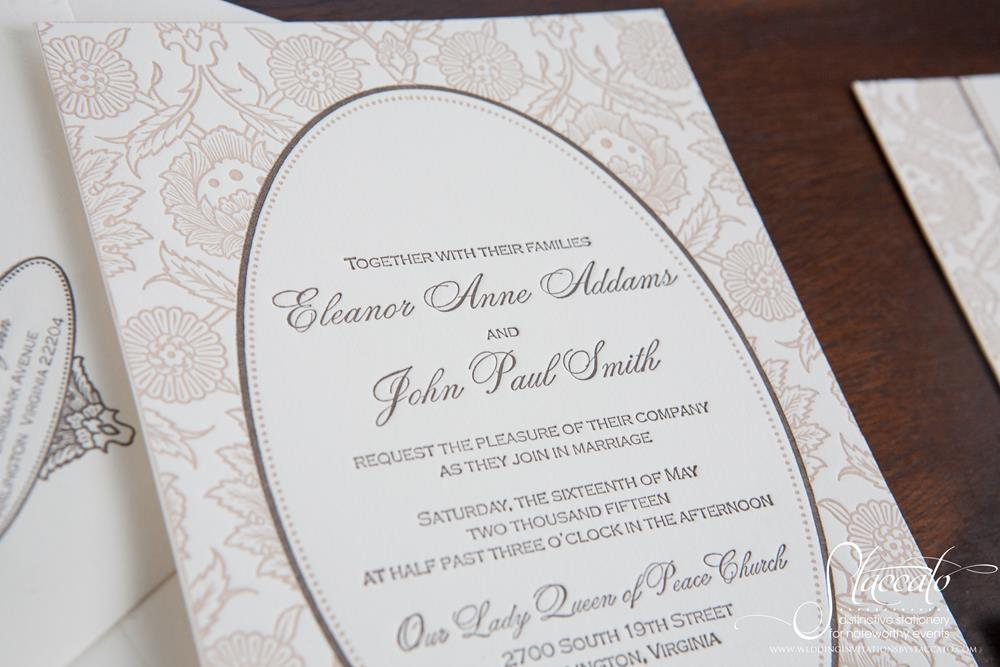 Hannah Letterpress Wedding Invitation