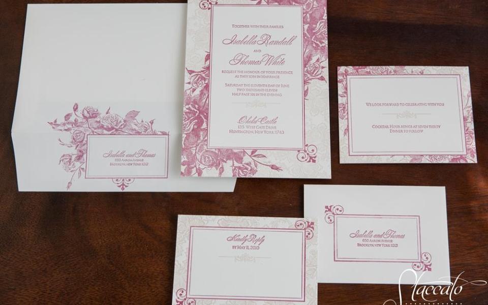 Andaluz Letterpress Wedding Invitations