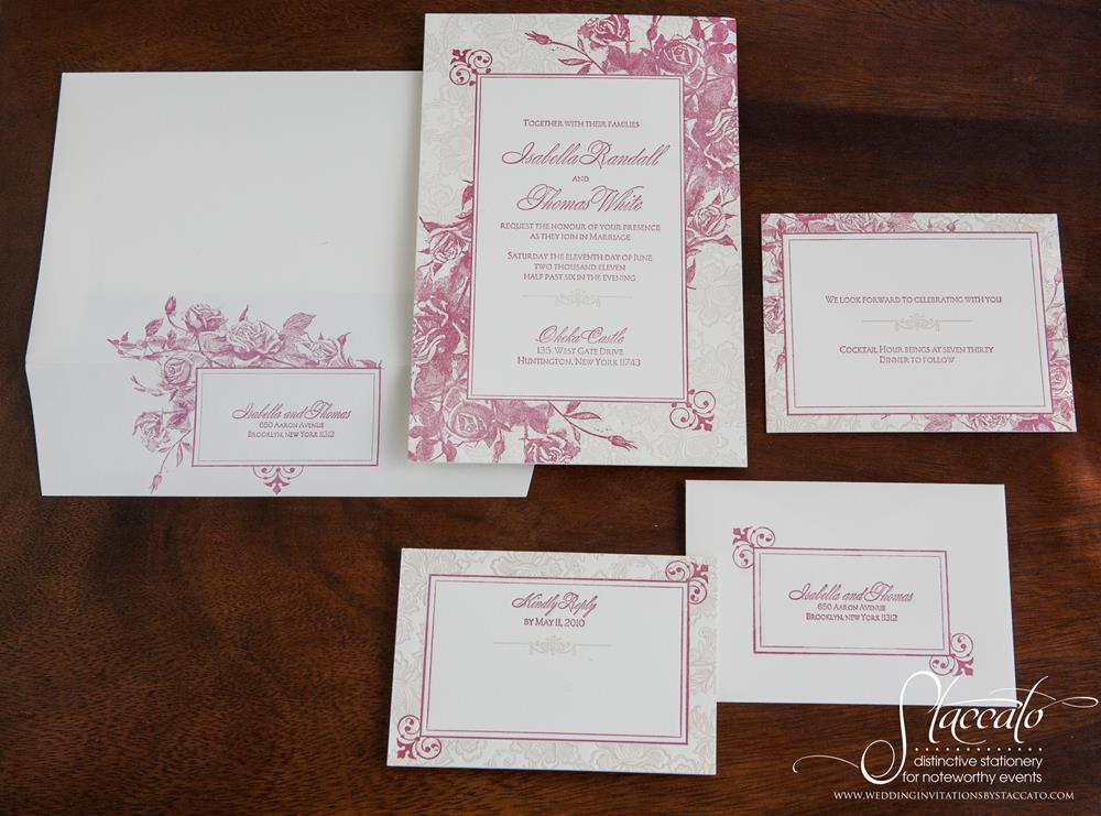 Andaluz Letterpress Wedding Invitations