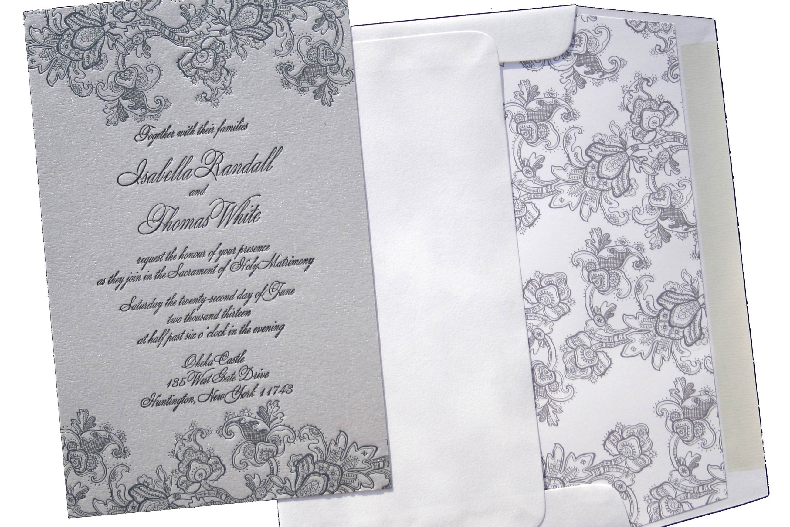 Isabella Letterpress Wedding Invitation Suite