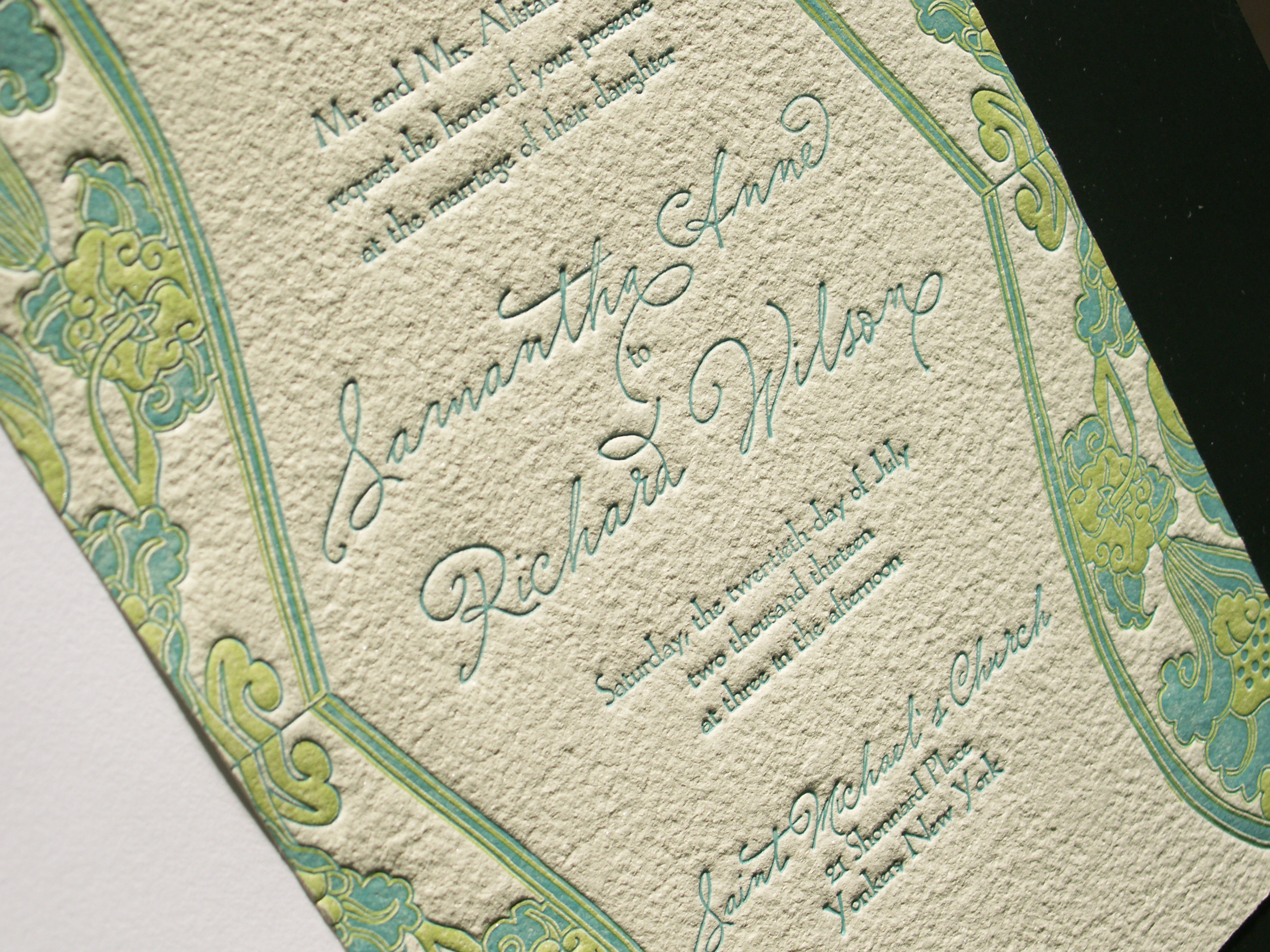 Waterlily Letterpress Invitation Suite