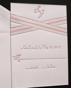 Grosgrain Letterpress Invitation