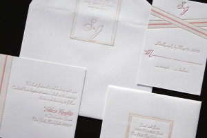 Grosgrain Letterpress Wedding Invitat