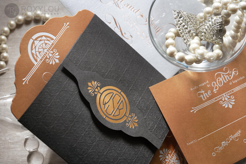 empire wedding invitations staccato