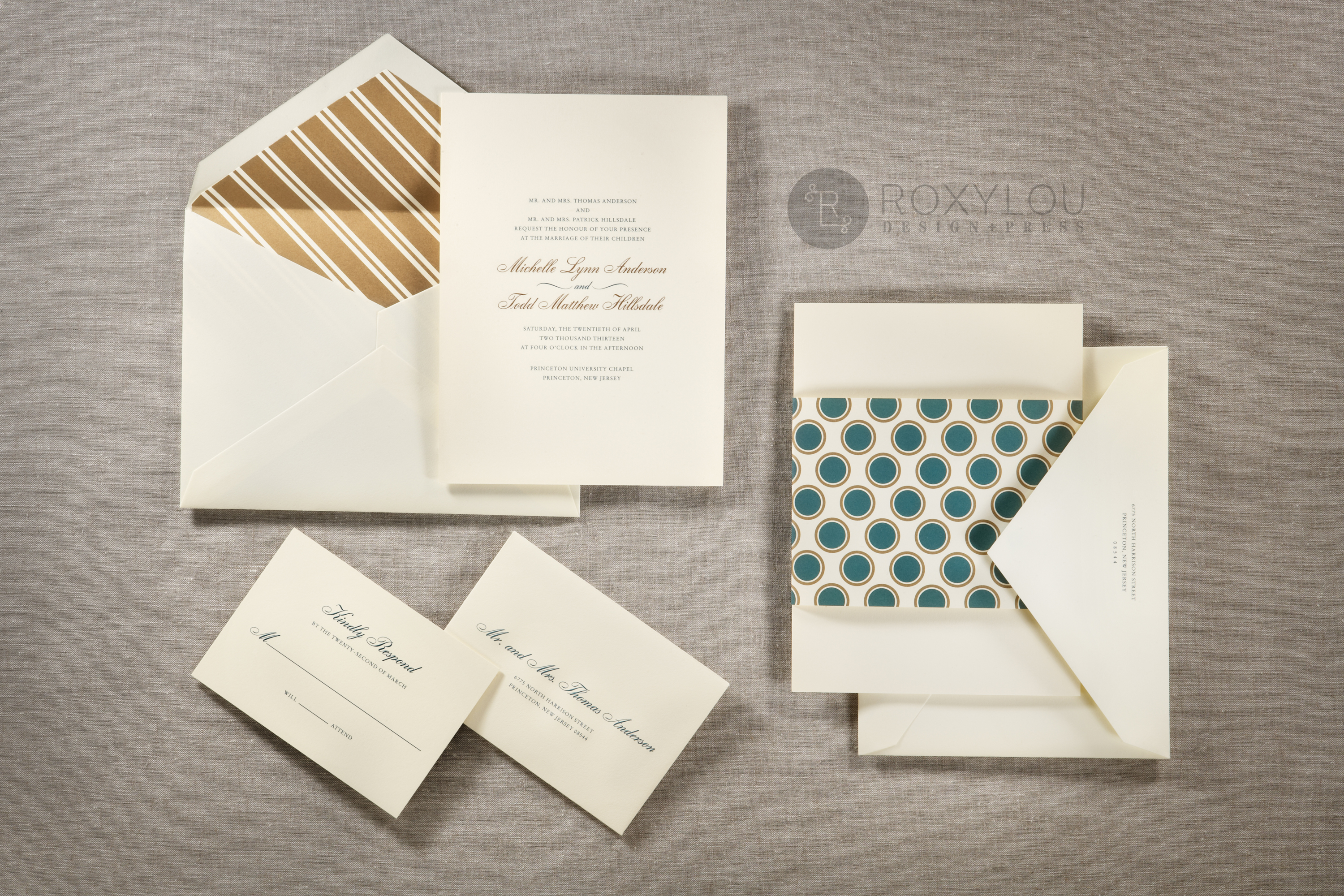 The Hampton Invitation Suite Features A Traditionally Formal 2 Color Engraved Card With