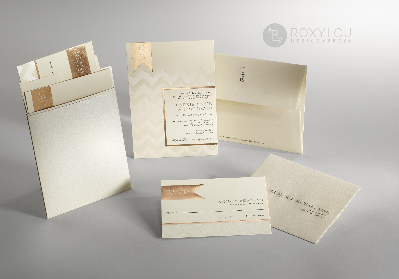 Chevron Wedding Invitations • Staccato