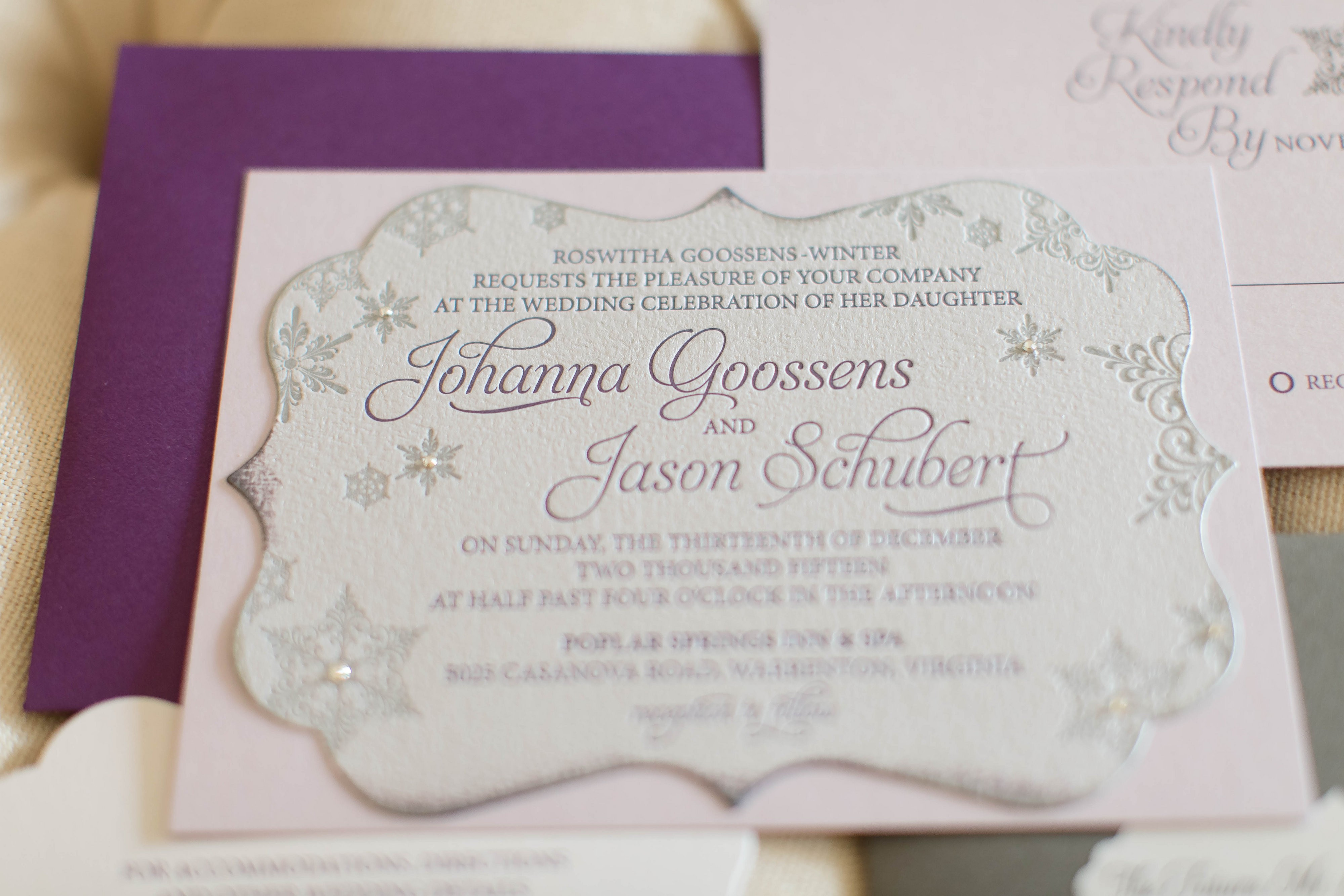 Frosted Winter Wedding Invitation by Staccato