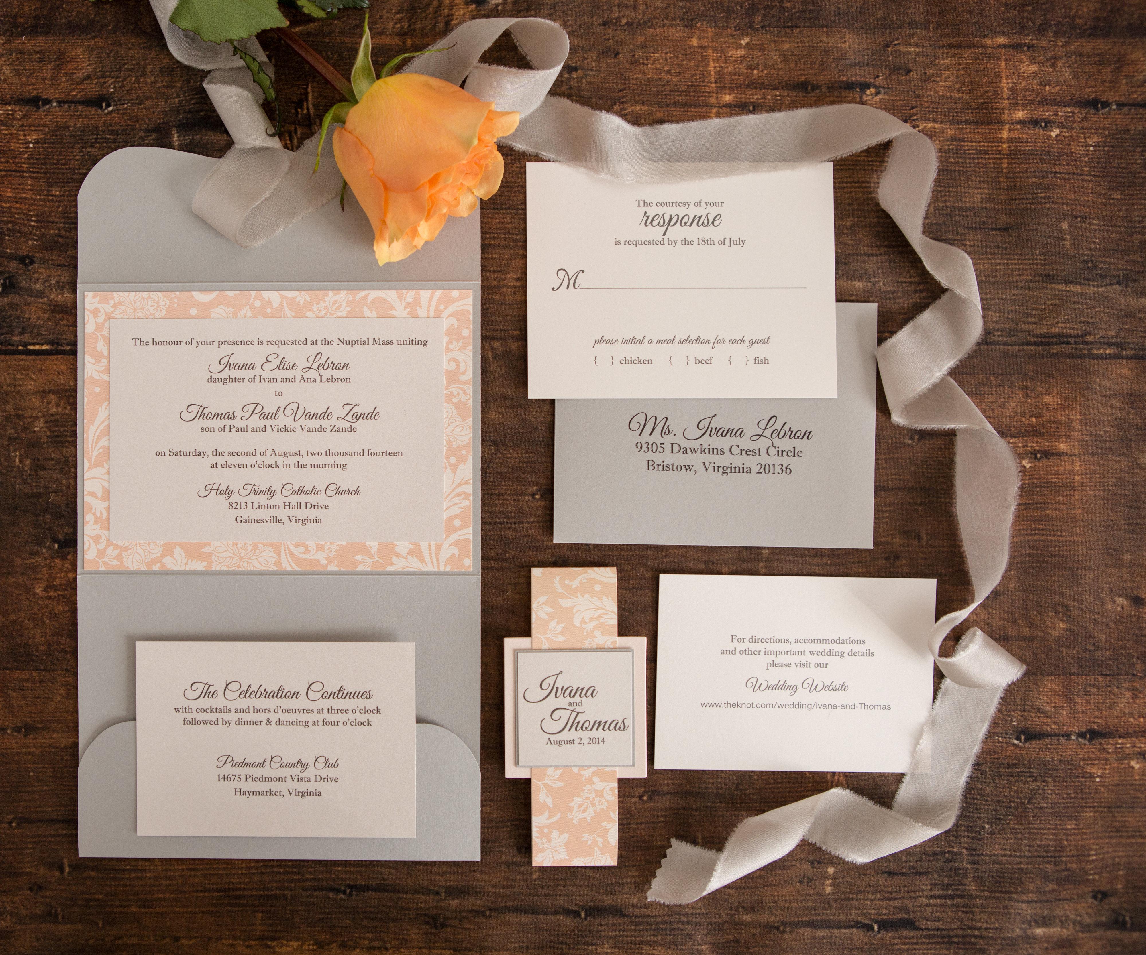 Ivana & Thomas's Wedding Invitation Suite