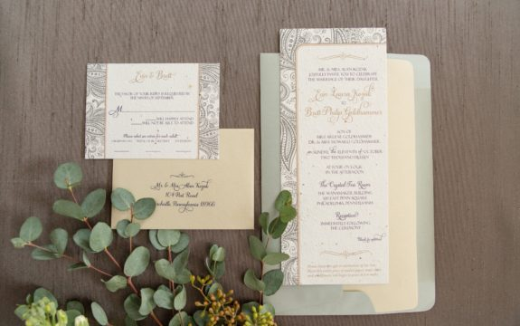 Evin & Brett's Wedding Invitations