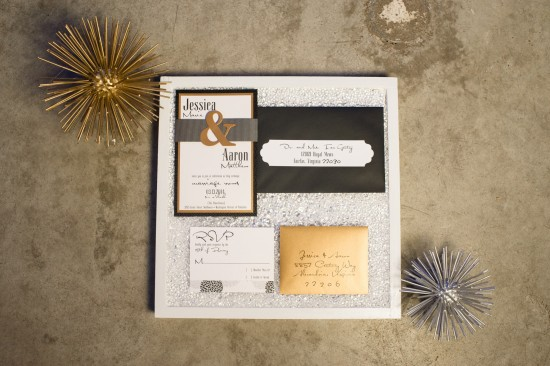 Amazing Grace Industrial Suite, black, white, gold, bold accents.