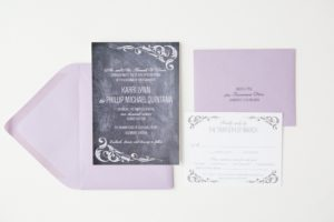 Karri & Phillip's Chalkboard Wedding Invitations