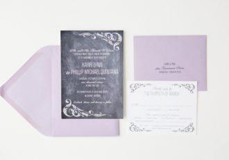 Karri & Phillip's Chalkboard Wedding Invitations