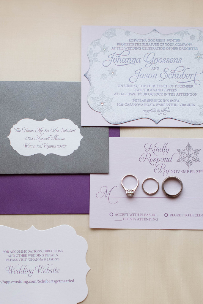 Custom Winter Wedding Invitation by Staccato