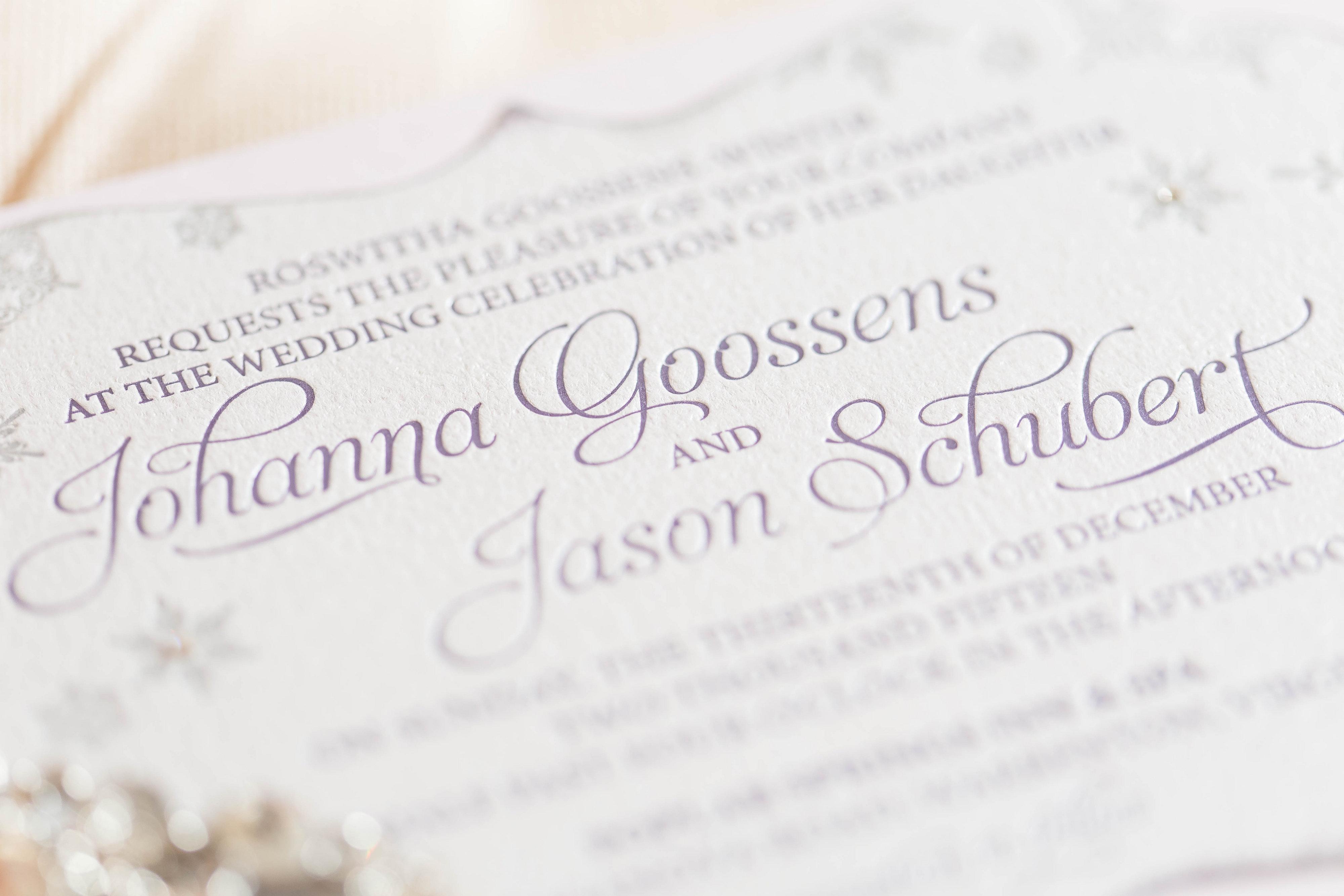 Johanna & Jason's Wedding Invitation Suite