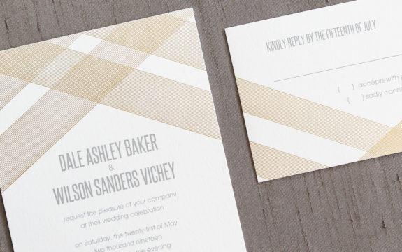 Vosage Wedding Invitation