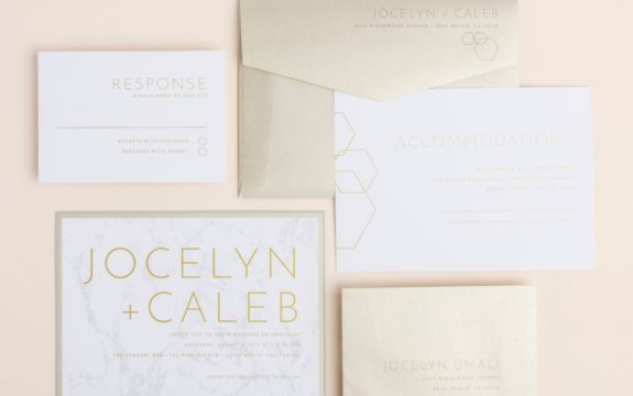 Contemporary Marble Wedding Invitation