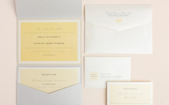 Petite Hex Wedding Invitation