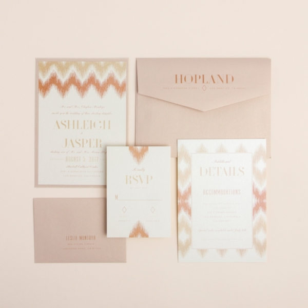 Sophisticated Chevron layered wedding invitation by Envelopments takes this popular pattern to a whole new contemporary level!