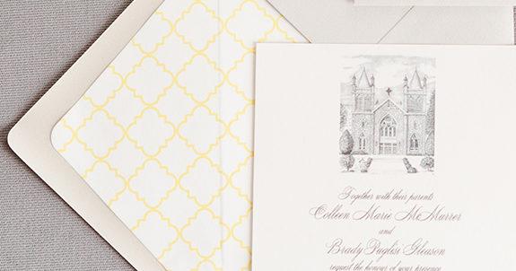 Colleen & Brady's Custom Wedding Invitations
