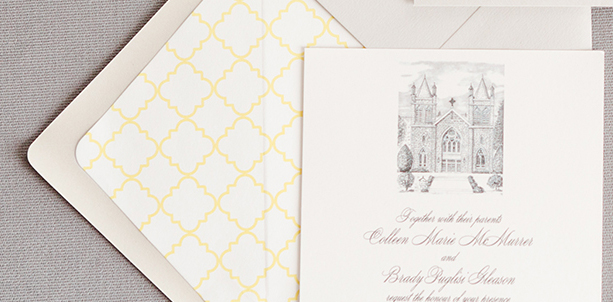 Colleen & Brady's Custom Wedding Invitations