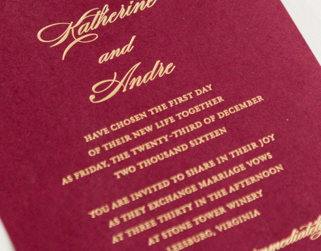 Katherine & Andre\'s Wedding Invitations • Staccato