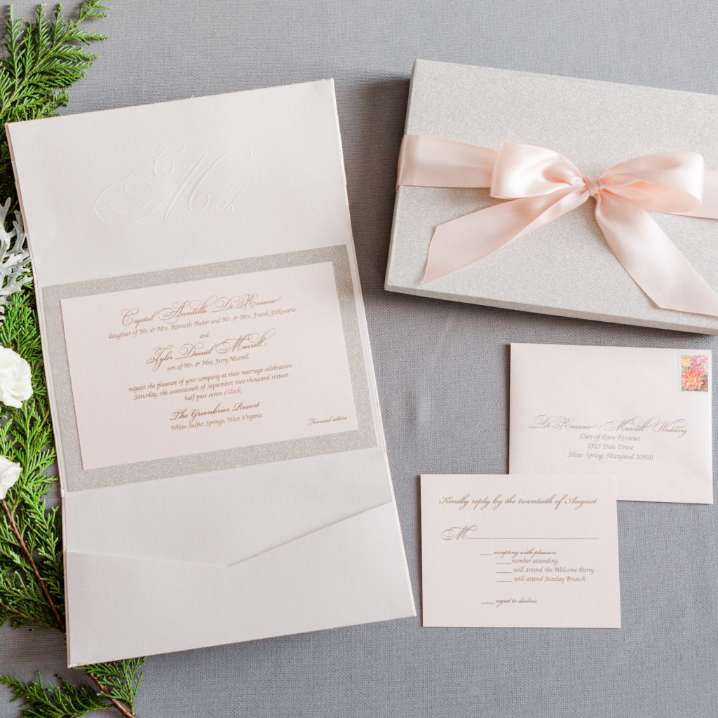 Crystal & Tyler\'s Wedding Invitations • Staccato