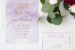 April & Sean's Purple Watercolor Wedding Invitation