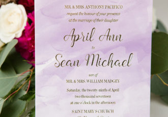 April & Sean's Wedding Invitations