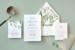 Sadie letterpress wedding invitation available from Staccato in Fairfax, Virginia