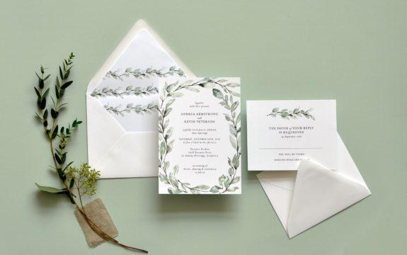 Delicate Willow Wedding Invitation