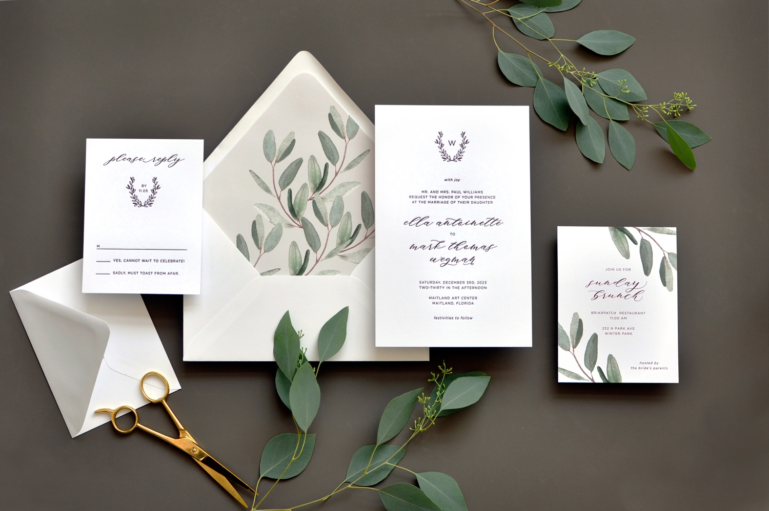 Virginia Letterpress Wedding Invitations, Northern Virginia Luxury Invitations