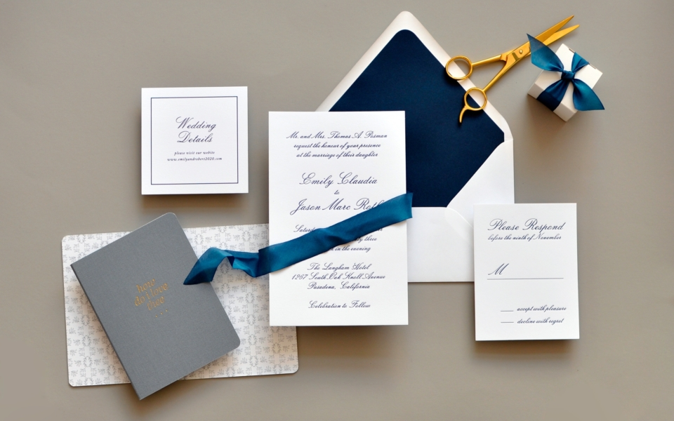 Smitten on paper luxe wedding collection staccato emily luxury wedding invitations northern virginia washington dc and maryland emily letterpress wedding invitation reheart Images