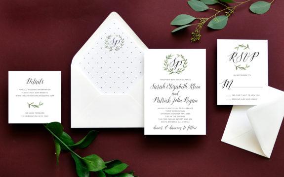 Blissful Wreath Wedding Invitation