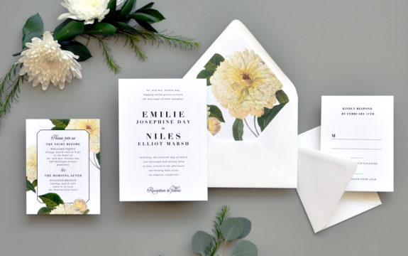 Classic Belle Wedding Invitation