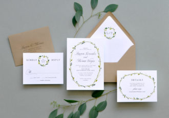 Delicate Wreath Wedding Invitation