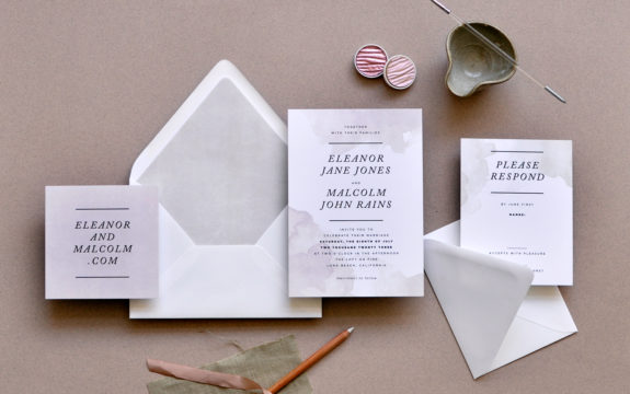 Dipped Ink Wedding Invitation