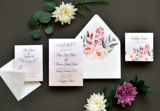 Enchanted Drift Wedding Invitation