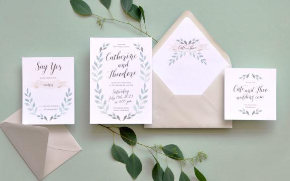Fairfield Wedding Invitation
