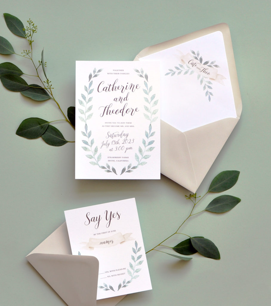 Fairfield Wedding Invitation • Staccato
