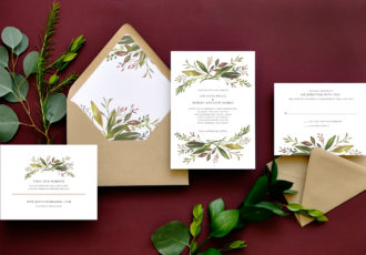 Harvest Garden Wedding Invitation
